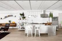 Kitchen / 木×ステンレス 時々モザイクタイル。