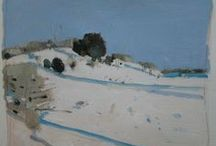 Harry Stooshinoff, Winter Paintings / Contemporary Canadian landscape painting. Paintings of winter by Harry Stooshinoff