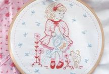 Broderie : Broderie rouge (Red embroidery)