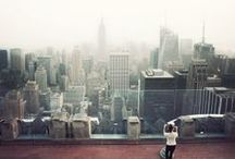 NYC  / glittering crowds and shimmering clouds  In canyons of steel  New York New York
