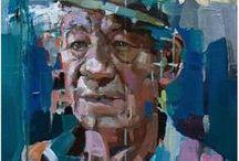 Portréty a figurální malba / Portréty a figurální malba - různí umělci, techniky, média