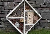 Insect hotels / Home for the bees, butterflies and other insects.