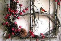 věnečky a dekorace Vánoce
