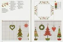 cross stitching  christmas / by Garden full of roses.