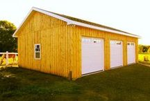 Custom Garages / Recent custom garages by North Country Sheds. Contact us for a quote on your next home project.