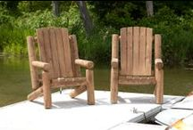 Outdoor - Log Adirondack Furniture / Outdoor Log Chairs, Lounges and More -  We offer a stunning line-up of outdoor cedar log furniture items that look fantastic on the deck of your lake front cottage or mountain cabin. It can also add that rustic appearance outside your primary residence.