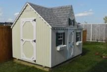 Playhouse Sheds | NCS / Looking for a playhouse for the kids or some extra storage space with some elegant Victorian style? Look no further! This recent 8' X 10' playhouse/shed combo was recently built on location in Orléans, ON. It may be just what you're looking for.   Visit our website for more photos and information: http://northcountrysheds.com/kids/kids-play-houses/victorian-playhouse/