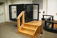 """Facilities with Protégé Wheelchair Lift / Ascension Protégé Wheelchair Lifts provide ADA access to stages up to 42"""" high.  For lower stages, customers can enjoy a smaller footprint while retaining a full-sized platform and the superior quality only available from an Ascension Wheelchair lift."""