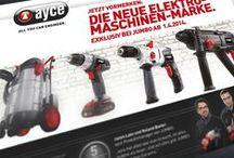 Case ayce JUMBO Schweiz / All you can engineer. Die Elektromarke von JUMBO, dem Schweizer Baumarkt.