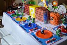Mario Bros Party Inspiration / This board is full of inspiration for your Mario Bros. themed party.