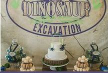 Dinosaur/ Jurassic World Party Inspiration / This board is full of inspiration for your next Jurrasic World or Dinosaur themed party.