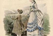 Fashion plates 1860-1875 / From Crinoline to the Bustle Era