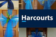 'Bow time' door bows and wreaths / When my lovely new owners arrive I like to have a welcome bow on their door. This is some ideas along with some of mine. #harcourts #settlementgifts #realestategiftideas