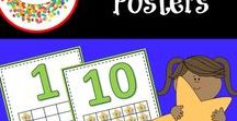 Number Posters / Number Posters for your classroom.  Numbers 1 to 20 in both English and Spanish