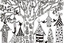 PATRONES - PATTERNS - COLORING PAGES