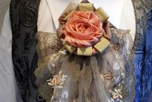 цветы из текстиля и броши