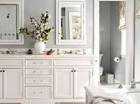 Home | Decor / Plenty of home decor ideas. I like a glam neutral look with plenty of neutral gray and white, gold and silver metallics, and pops of bright colors. Marble always works.