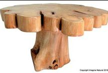Tree Trunk Tables / Handmade Tree Turnk Tables made from Tree trunks.
