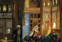 orientalist / images of the 'other in art. also some cool decorating ideas
