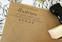 Fall For Design // Stamps / Address Stamps, Stamps for Wedding, Wedding Favors, Thank You Stamps, General Stamping