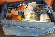 Farkkujen uusiokäyttöä / Ideoita, suunnitelmia, kierrätystä. Vanhojen farkkujen kierrätyskeskus.