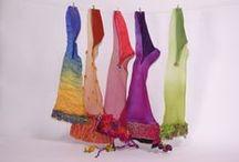 NUNA / Fieltro nuno, Nuno felt, fashion desing, color, colour.