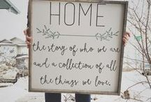DIY HOME Decor / DIY Home Decor that is simple, easy and makes a home feel home sweet home.
