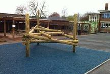 Forest Stack Climbing Frames Playground Equipment / Carefully angled beams create fantastic climbing frames for many children to use at once. View the range here http://www.actionplayandleisure.co.uk/forest-stack-climbing-frames/