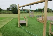 High Level Trim Tails Playground Equipment / We have a selection of different trim trails playground equipment available but this board focuses on the high level range and different items can be added together. http://www.actionplayandleisure.co.uk/high-level/