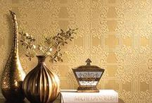Tapet Auriu/ Golden Wallpaper / Tapetul Auriu aduce calitatea si luxul la un alt nivel! Golden Wallpaper