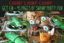 Swamp Party Printables / Alligator Bayou Swamp Party Printables - Every party printable you will need from setting up a swamp party buffet, swamp decor signs, swamp party watering hole, and more....