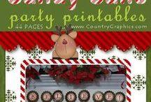 Christmas Party Printables / Christmas Party Printables - Large variety of Christmas Party Printable Themes: Candy Cane, Gingerbread, Snowmen, Santa, etc.