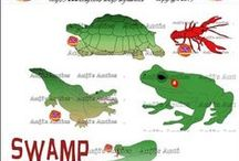 Swamp Graphics Digital Clipart / Swamp Graphics - Create your own crafts and cards with our swamp graphics. Use for scrapbook projects too. Swamp Graphics Digital Clipart