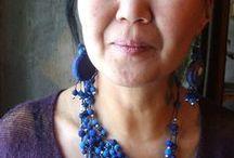 šperk textilný / plstené šperky