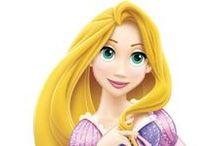 Rapunzel / Stickere cu printesa Rapunzel