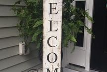 DIY front porch decor / front entrance decor