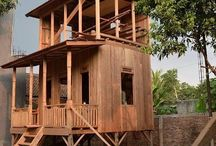 Rumah Kayu/ Wooden House made in South Sumatera Province, Indonesia