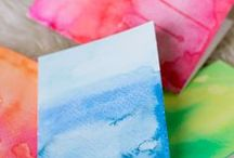 DIY Watercolour Painting / fun with watercolours