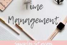 TIME MANAGEMENT / Tips in using your time to help you  stay productive. Use time management wisely to stay focused on your goals.