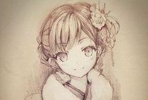 Anime Drawings / by ♡Zai♡