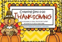 Thanksgiving Theme Activities / This is a collection of Thanksgiving themed resources for your preschool, pre-K and Kindergarten aged children, to use both at school and at home. Make hands-on, interactive learning games and activities with these creative free, and low-cost printable pages.