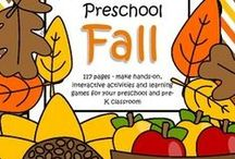 Fall Theme / This is a collection of Fall and Autumn themed resources for your preschool, pre-K and Kindergarten aged children, to use both at school and at home. Make hands-on, interactive learning games and activities with these creative free, and low-cost printable pages.