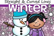 Winter Theme / This is a collection of Winter themed resources for your preschool, pre-K and Kindergarten aged children, to use both at school and at home. Make hands-on, interactive learning games and activities with these creative free, and low-cost printable pages