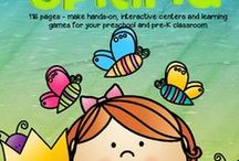 Spring & Easter Theme / This is a collection of SPRING and EASTER themed resources for your preschool, pre-K and Kindergarten aged children, to use both at school and at home. Make hands-on, interactive learning games and activities with these creative free, and low-cost printable pages.