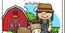 Farm Animals Theme / This is a collection of Farm and Farm Animals themed resources for your preschool, pre-K and Kindergarten aged children, to use both at school and at home. Make hands-on, interactive learning games and activities with these creative free, and low-cost printable pages.