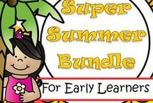 Summer Theme / This is a collection of SUMMER themed resources for your preschool, pre-K and Kindergarten aged children, to use both at school and at home. Make hands-on, interactive learning games and activities with these creative free, and low-cost printable pages. Includes resources for July 4th.