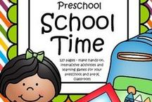 Back to School Theme / This is a collection of BACK TO SCHOOL themed resources for your preschool, pre-K and Kindergarten aged children, to use both at school and at home. Make hands-on, interactive learning games and activities with these creative free, and low-cost printable pages.
