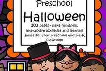 Halloween Theme Activities / This is a collection of Halloween themed resources for your preschool, pre-K and Kindergarten aged children, to use both at school and at home. Make hands-on, interactive learning games and activities with these creative free, and low-cost printable pages.