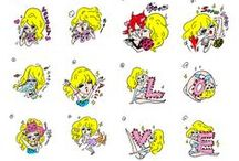 LINE / Akiko's LINE long-seller stamp: LOVE & GORGEOUS