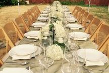 In House Tablescapes / Tablescapes created by our very own, here at Salmon's Rentals & Apex Tents!
